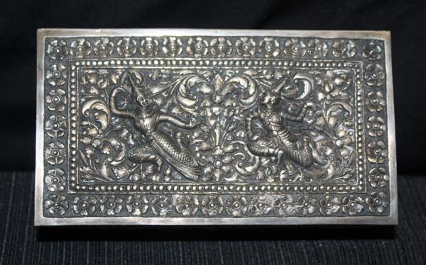 18: Thai Sterling Silver Repousse Box