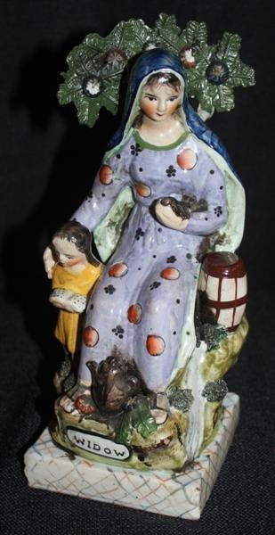 "23: Staffordshire Pottery ""Widow"" Figurine"