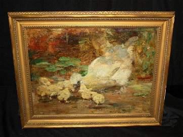 109: William Walls O/B Silkies - Chicks w/Hen