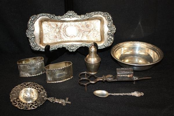 7: Sterling Silver Articles: Bowl etc + Silver Plate