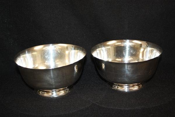 9: Pair Lunt Sterling Silver Revere Bowls