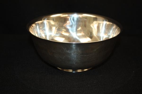 10: Sterling Silver Footed Bowl w/Pastoral Design