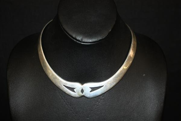 24: Mexican Sterling Silver Choker Necklace