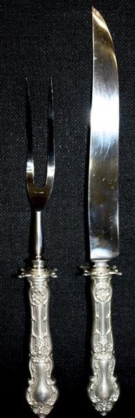 6: Sheffield Sterling Silver Carving Set 1904