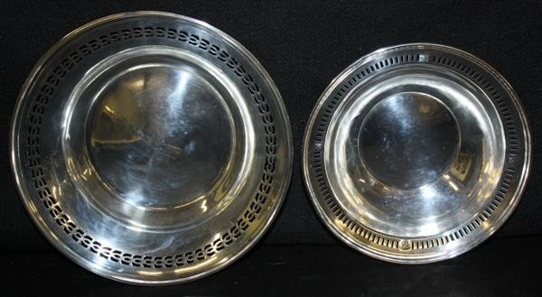 13: 2 Sterling Silver Bowls w/Reticulated Edges