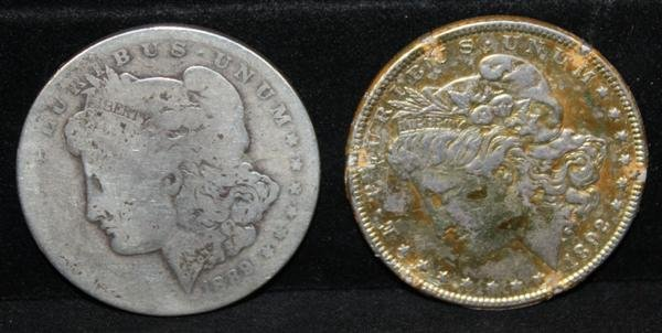 18: 2 Morgan Dollars: 1889-O & 1892  Fair to Good