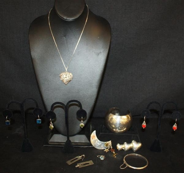 21: Sterling Silver Jewelry Lot