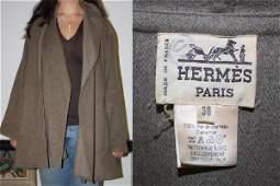 262: Hermes Camel Hair Coat Shawl
