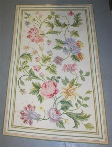 4: Floral Design Needlepoint Rug