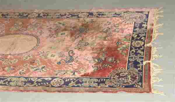 5: Chinese Art  Deco Silk Area Rug