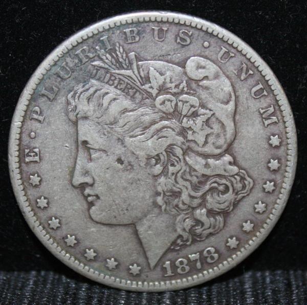 18: 1878 CC Morgan Dollar Key Date Fine