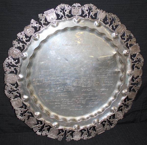 22: 900 Silver Commemorative Platter