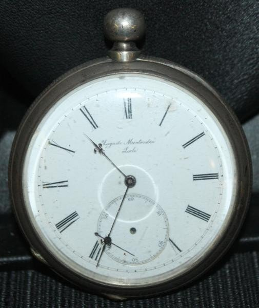 23: 19thC French Coin Silver Pocket Watch