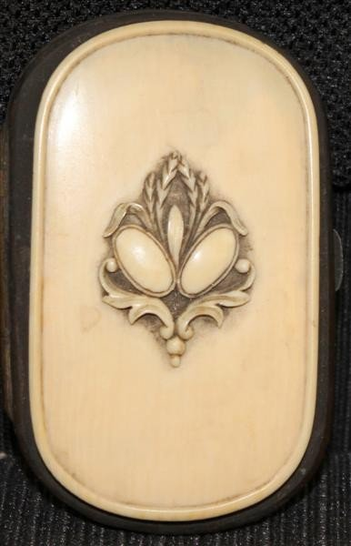 2: 19th Century Ivory & Brass Coin Purse