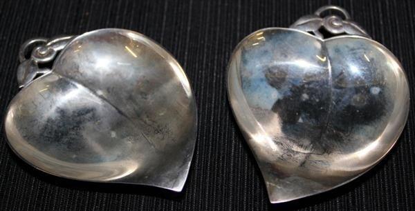 7: Tiffany Sterling Silver Leaf Form Open Salts/Dish