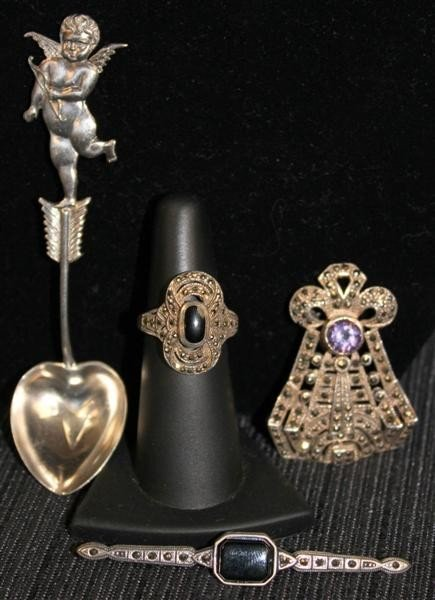 16: Sterling Silver Jewelry Lot 1: Marcasite