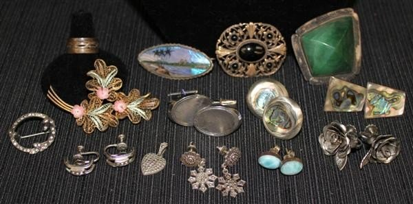18: Sterling Jewelry Lot 3: 1910-1970