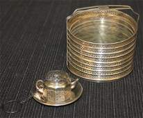 2: Sterling Silver Articles: Tea Strainer Coasters