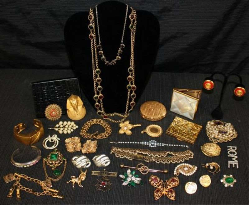 11: Costume Jewelry Lot 3: Weiss KJ Lane Paste