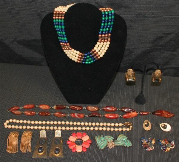 12: Costume Jewelry Lot 4: Givenchy Lorion/Karels