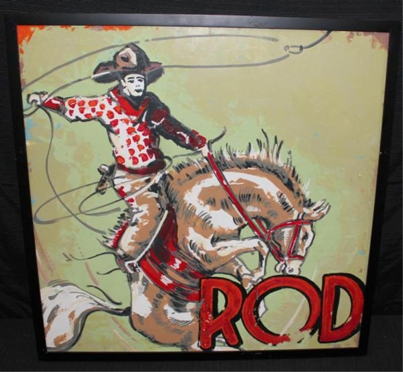 "141: Jeff Schaller Encaustic Pop Art ""Rodeo"""
