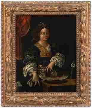 Italian, 17th Century, Salome with the Head Johannes d.