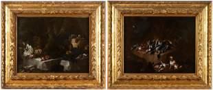 Italian Master , 17th Century, Pair of Hunting Still