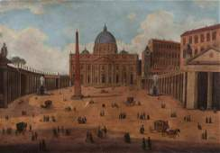 Augusto Alberici View of the Piazza and the Basilica