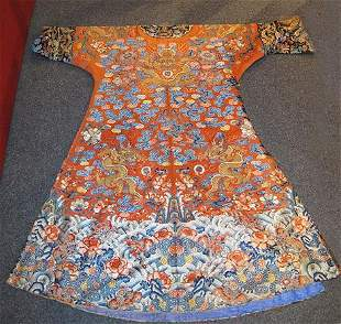 A FINE CHINESE DRAGON ROBE