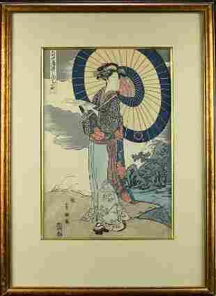 A JAPANESE WOODBLOCK PRINT
