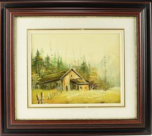 A VINTAGE OIL PAINTING
