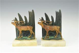 A PAIR OF VINTAGE BOOKENDS