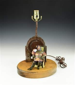 A ROYAL DALTON FIGURINE LAMP