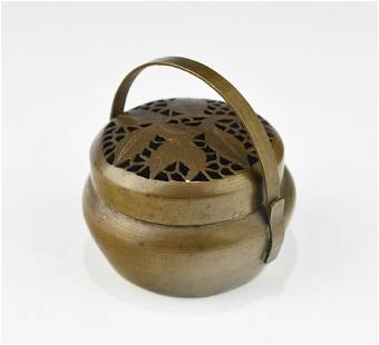 A 20TH CENTURY CHINESE HAND WARMER