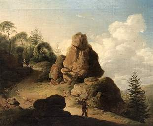 17th century Mountainous landscape painting