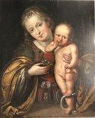 A Renaissance painting of Madonna & Child