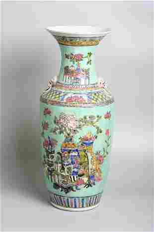 A Chinese porcelain early 20th century vase 57 cm