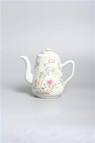 a late 19th century Chinese porcelain teapot