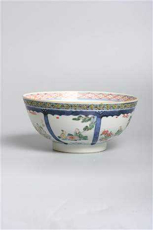 A Chinese porcelain famille verte Bowl