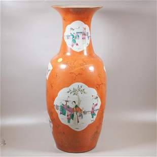 A Large Chinese porcelain vase, Qing dynasty