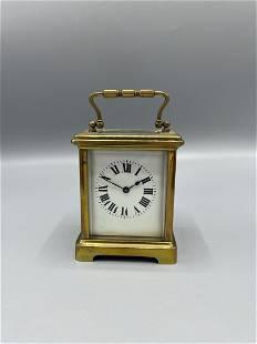 An 19th century English Brass Carriage clock