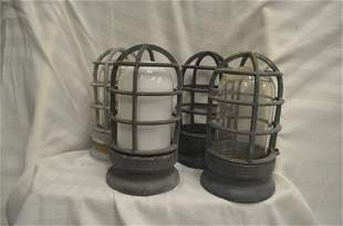 Vintage Copper and Iron Cage for Lightbulb