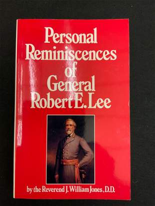 Book, personal Reminences of General Robert E Lee
