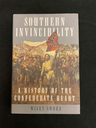 Hardback book, southern invincibility