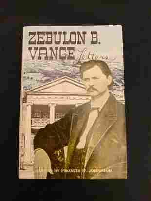 Hardback book, Zebulun B. Vince letters