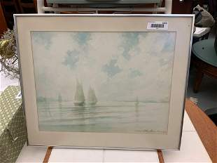 Framed painting, watercolor original