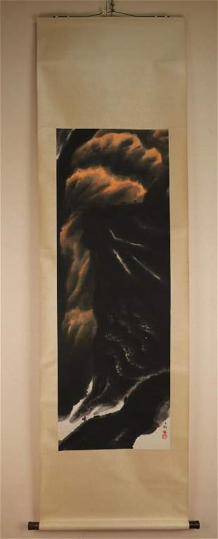 A DECORATIVE OIL PAINTING