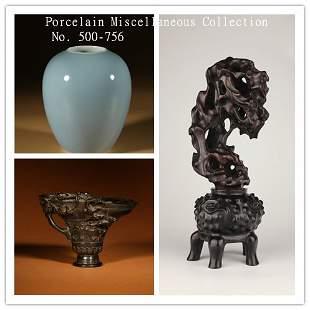PORCELAIN & MISC. COLLECTION NO. 500-756