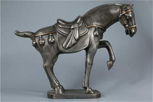 A TIN ART HORSE ORNAMENT, QING DYN.