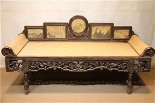 A HUANGHUALI WOOD RECUMBENT COUCH FOR BEAUTIES